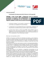 Nota de Prensa. APNABI. 5 Diciembre