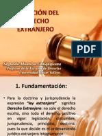 APLICACIÓN DEL DERECHO EXTRANJERO