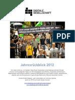 Jahresrückblick 2012 des Digitale Gesellschaft e.V.