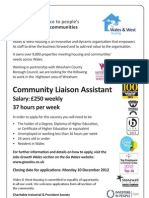 Career opportunity - Hightown Community Liaison Assistant