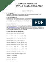 Regulamento da Corrida Pedestre Sta Rosa do Viterbo 2013