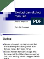 Ekologi Dan Ekologi Manusia