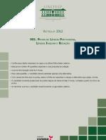 Caderno Questoes Prova Lingua Portuguesa Lingua Inglesa Redacao 2012