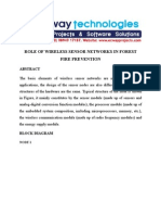 Role of Wireless Sensor Networks in Forest Fire Prevention