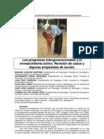 Los programas intergeneracionales y el envejecimiento activo