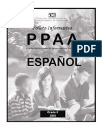 Folleto Informativo PPAA Español 6to