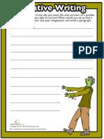 Halloween Writing Prompts 2 Worksheet