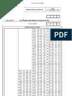 Agentes de Hacienda Pública. Plantilla Primer Examen 2010.