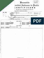 Certificado Parcial Maestría