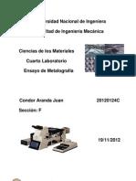imforme de metalografia