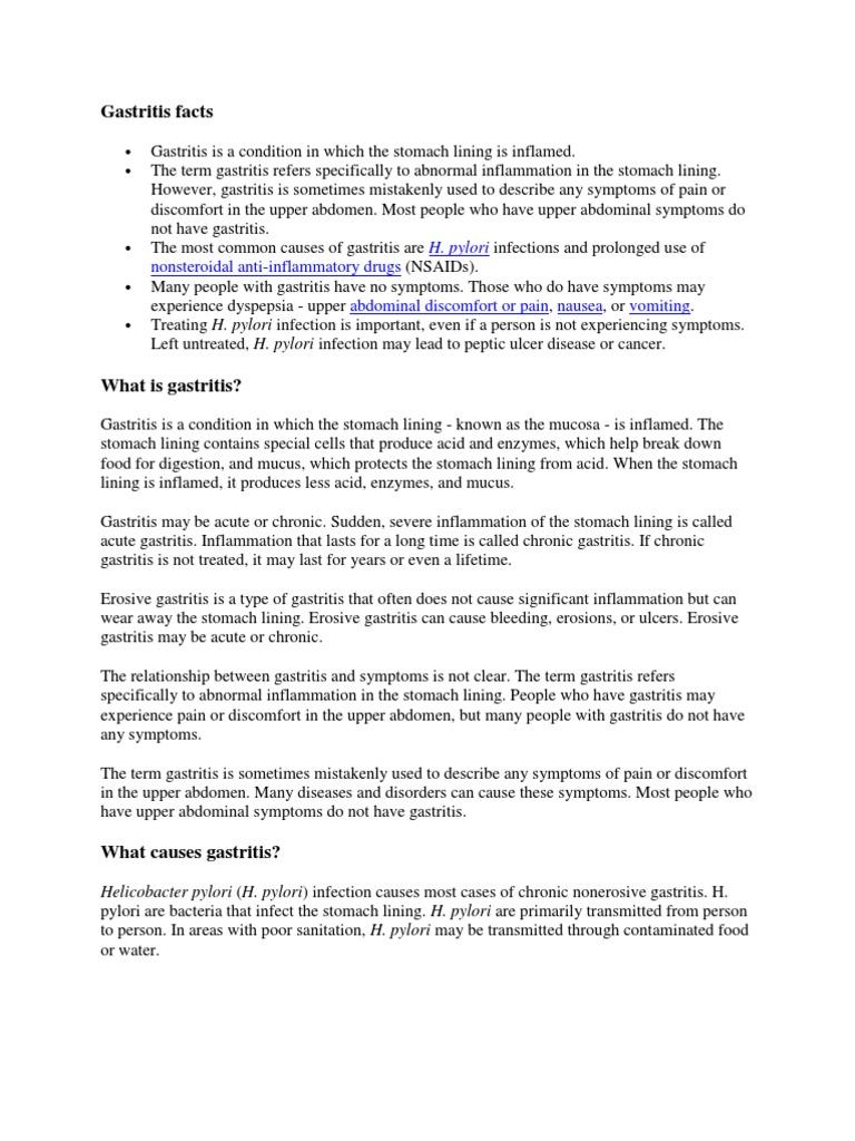 Gastritis 1 Peptic Ulcer Digestive Diseases