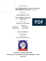 A Project Report on Thermal Conductivity of a Metallic Rod
