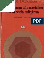 L Durkheim Las Formas Elementales de La Vida Religiosa