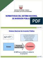 Normatividad SNIP 2011 SET