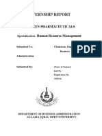 AIOU HRM Internship Report (Shaheen Paharmaceuticals)