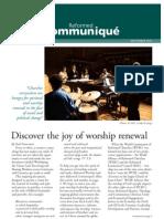 Reformed Communiqué  September 2011