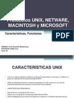 4. Protocolos UNIX, NETWARE, MACINTOSH y MICROSOFT (Características, Funciones)