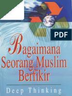 Bagaimana Seorang Muslim Berfikir