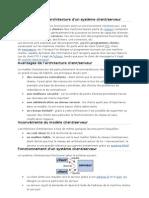 Présentation de l'architecture d'un système client serveur