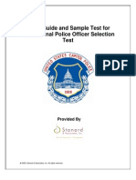 Study Guide and Sample Test for The National Police Officer Selection Test