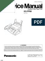 Service Manual Facsimile Panasonic Kx-fp80