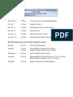 Friendship House MSU December 2012 Schedule