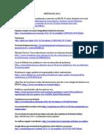 Artículos  prensa 2012