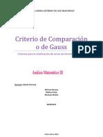 Criterio de Comparacion o de Gauss, Analisis 3