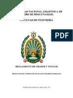 Reglamento Grados y Titulos - Fi- 2010