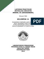 Cover Laporan Praktikum KEKASARAN