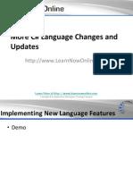 More CSharp Language Changes and Updates
