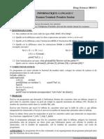 Examen L1 Language C 2003 1