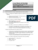 Examen Correction L2 Base de Donnees