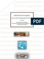 Manual del Investigador Programáticas 2012-2013