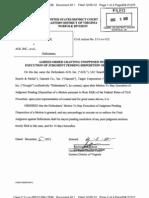 Vringo v Google - Order Staying Judgment (2012!12!05)