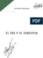 Cayetano Betancur, El Ser y El Consistir, en
