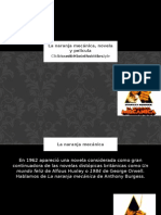 La naranja mecánica, novela y película-Roberto Jorge Saller
