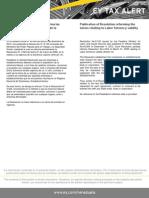 Tax Alert - Publicada Resolución que Reforma las Normas Relativas a la Vigencia de la Solvencia Laboral
