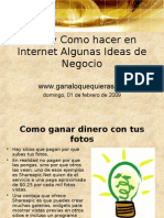 Que y Como Hacer en Internet Algunas Ideas de Negocio