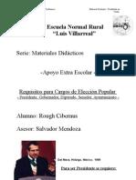 Requisitos  necesarios para ser Presidente Diputado Senador y Municipe de Mexico