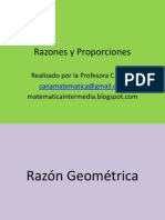 Razón y Proporción Geométrica