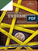 2011 Oversight Undermined