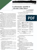 Comunicação com subestações - quando se deve usar EIA-232 EIA 485 e fibra otica