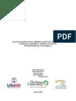 Plan de Manejo de La Reserva Natural Privada en Suchitepequez