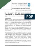 RESOLUCIoN DE ALCALDiA N 522- 2012 – MPC-A