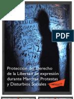 Protección del Derecho de la Libertad de expresión  durante Marchas, Protestas y Disturbios Sociales