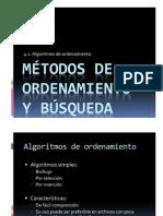 Métodos de ordenamiento