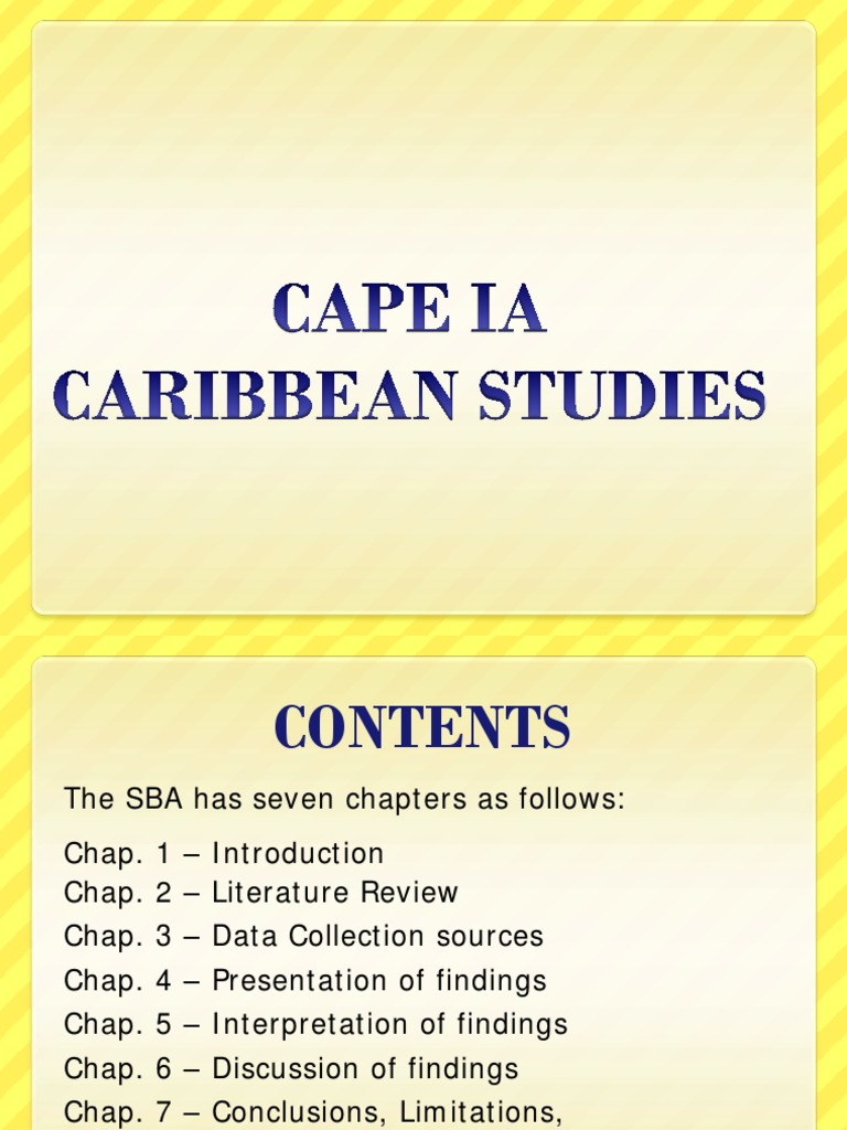 caribbean studies ia data collection The caribbean examinations council offers three types of  use primary and secondary sources of data collection (b)  the caribbean studies syllabus is.