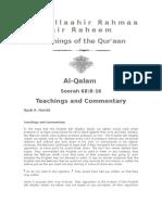 Teachings of the Qur'Aan