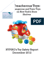 NYPIRG Treacherous Toys Report, December 2012